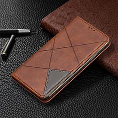 Samsung Galaxy A41用手帳型 レザーケース スタンド カバー L07 サムスン ブラウン