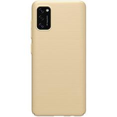 Samsung Galaxy A41用ハードケース プラスチック 質感もマット カバー M01 サムスン ゴールド