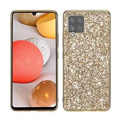 Samsung Galaxy A42 5G用ハイブリットバンパーケース ブリンブリン カバー 前面と背面 360度 フル サムスン ゴールド