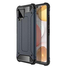 Samsung Galaxy A42 5G用ハイブリットバンパーケース プラスチック 兼シリコーン カバー サムスン ミッドナイトネイビー