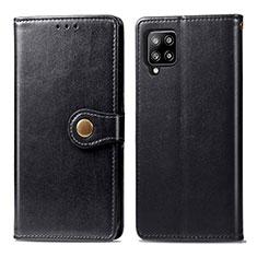 Samsung Galaxy A42 5G用手帳型 レザーケース スタンド カバー L04 サムスン ブラック
