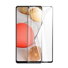 Samsung Galaxy A42 5G用強化ガラス フル液晶保護フィルム サムスン ブラック
