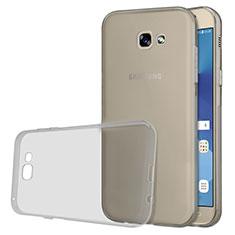Samsung Galaxy A5 (2017) Duos用極薄ソフトケース シリコンケース 耐衝撃 全面保護 クリア透明 T03 サムスン グレー