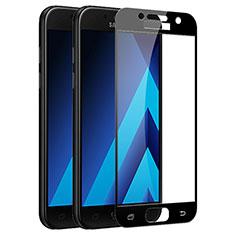 Samsung Galaxy A5 (2017) Duos用強化ガラス フル液晶保護フィルム F03 サムスン ブラック