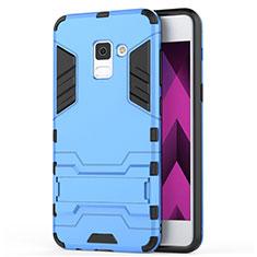 Samsung Galaxy A5 (2018) A530F用ハイブリットバンパーケース スタンド プラスチック 兼シリコーン サムスン ネイビー