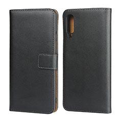 Samsung Galaxy A50用手帳型 レザーケース スタンド サムスン ブラック