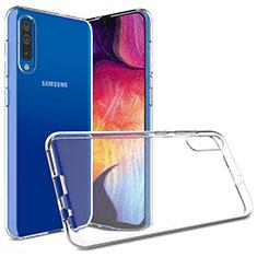 Samsung Galaxy A50用極薄ソフトケース シリコンケース 耐衝撃 全面保護 クリア透明 カバー サムスン クリア