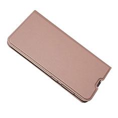 Samsung Galaxy A50用手帳型 レザーケース スタンド カバー サムスン ローズゴールド