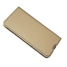 Samsung Galaxy A50用手帳型 レザーケース スタンド カバー サムスン ゴールド