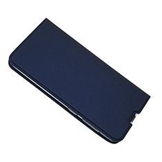 Samsung Galaxy A50用手帳型 レザーケース スタンド カバー サムスン ネイビー