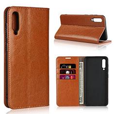 Samsung Galaxy A50用手帳型 レザーケース スタンド カバー L01 サムスン オレンジ