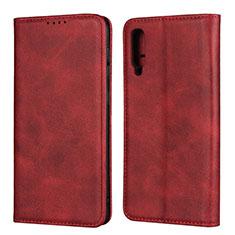 Samsung Galaxy A50用手帳型 レザーケース スタンド カバー L02 サムスン レッド
