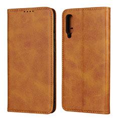 Samsung Galaxy A50用手帳型 レザーケース スタンド カバー L02 サムスン オレンジ