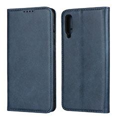 Samsung Galaxy A50用手帳型 レザーケース スタンド カバー L02 サムスン ネイビー