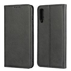 Samsung Galaxy A50用手帳型 レザーケース スタンド カバー L02 サムスン ブラック