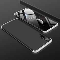 Samsung Galaxy A50用ハードケース プラスチック 質感もマット 前面と背面 360度 フルカバー サムスン シルバー・ブラック