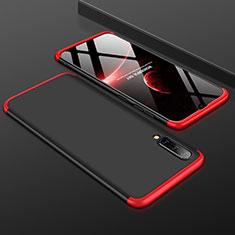 Samsung Galaxy A50用ハードケース プラスチック 質感もマット 前面と背面 360度 フルカバー サムスン レッド・ブラック
