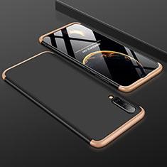 Samsung Galaxy A50用ハードケース プラスチック 質感もマット 前面と背面 360度 フルカバー サムスン ゴールド・ブラック