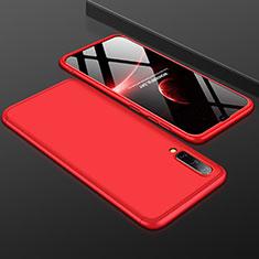 Samsung Galaxy A50用ハードケース プラスチック 質感もマット 前面と背面 360度 フルカバー サムスン レッド