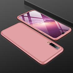 Samsung Galaxy A50用ハードケース プラスチック 質感もマット 前面と背面 360度 フルカバー サムスン ローズゴールド