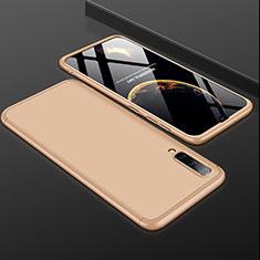 Samsung Galaxy A50用ハードケース プラスチック 質感もマット 前面と背面 360度 フルカバー サムスン ゴールド