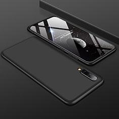Samsung Galaxy A50用ハードケース プラスチック 質感もマット 前面と背面 360度 フルカバー サムスン ブラック