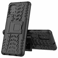 Samsung Galaxy A51 4G用ハイブリットバンパーケース スタンド プラスチック 兼シリコーン カバー サムスン ブラック