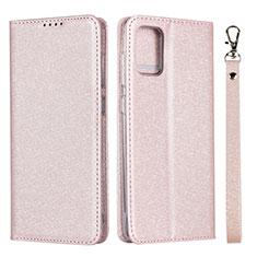 Samsung Galaxy A51 4G用手帳型 レザーケース スタンド カバー L02 サムスン ピンク