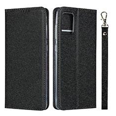 Samsung Galaxy A51 4G用手帳型 レザーケース スタンド カバー L02 サムスン ブラック