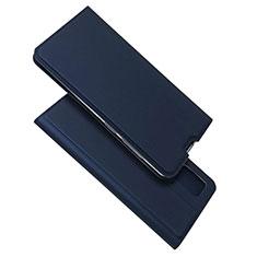Samsung Galaxy A51 4G用手帳型 レザーケース スタンド カバー L05 サムスン ネイビー