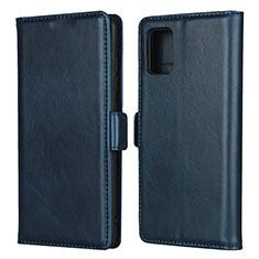 Samsung Galaxy A51 4G用手帳型 レザーケース スタンド カバー L06 サムスン ネイビー