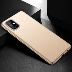 Samsung Galaxy A51 4G用ハードケース プラスチック 質感もマット カバー M01 サムスン ゴールド