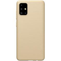 Samsung Galaxy A51 5G用ハードケース プラスチック 質感もマット カバー M01 サムスン ゴールド