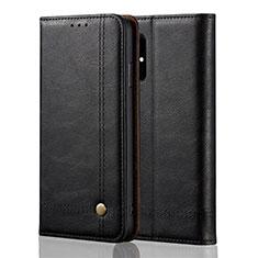 Samsung Galaxy A51 5G用手帳型 レザーケース スタンド カバー L10 サムスン ブラック
