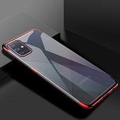 Samsung Galaxy A51 5G用極薄ソフトケース シリコンケース 耐衝撃 全面保護 クリア透明 H01 サムスン レッド