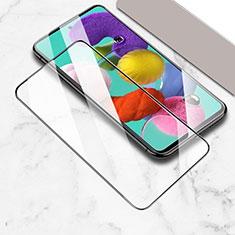 Samsung Galaxy A51 5G用強化ガラス フル液晶保護フィルム サムスン ブラック