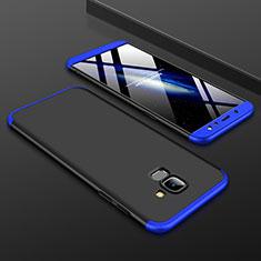 Samsung Galaxy A6 (2018)用ハードケース プラスチック 質感もマット 前面と背面 360度 フルカバー サムスン ネイビー・ブラック