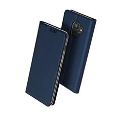 Samsung Galaxy A6 (2018)用手帳型 レザーケース スタンド サムスン ネイビー