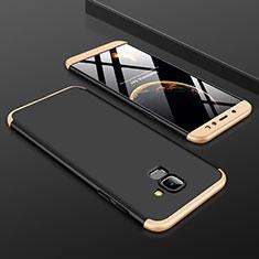 Samsung Galaxy A6 (2018) Dual SIM用ハードケース プラスチック 質感もマット 前面と背面 360度 フルカバー サムスン ゴールド・ブラック