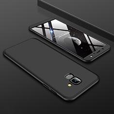 Samsung Galaxy A6 (2018) Dual SIM用ハードケース プラスチック 質感もマット 前面と背面 360度 フルカバー サムスン ブラック