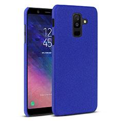 Samsung Galaxy A6 Plus (2018)用ハードケース プラスチック カバー サムスン ネイビー