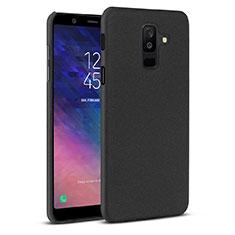 Samsung Galaxy A6 Plus (2018)用ハードケース プラスチック カバー サムスン ブラック