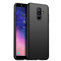 Samsung Galaxy A6 Plus (2018)用ハードケース プラスチック 質感もマット サムスン ブラック