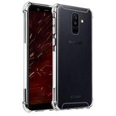 Samsung Galaxy A6 Plus (2018)用極薄ソフトケース シリコンケース 耐衝撃 全面保護 クリア透明 T04 サムスン クリア