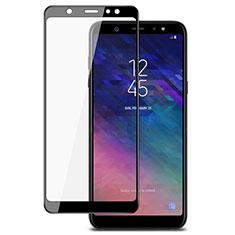 Samsung Galaxy A6 Plus (2018)用強化ガラス フル液晶保護フィルム サムスン ブラック