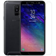 Samsung Galaxy A6 Plus (2018)用強化ガラス 液晶保護フィルム T01 サムスン クリア