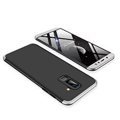 Samsung Galaxy A6 Plus用ハードケース プラスチック 質感もマット 前面と背面 360度 フルカバー サムスン シルバー