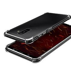 Samsung Galaxy A6 Plus用極薄ソフトケース シリコンケース 耐衝撃 全面保護 クリア透明 H01 サムスン クリア