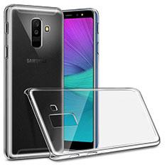 Samsung Galaxy A6 Plus用ハードケース クリスタル クリア透明 サムスン クリア