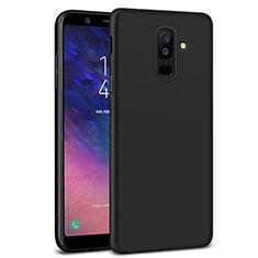 Samsung Galaxy A6 Plus用ハードケース プラスチック 質感もマット M02 サムスン ブラック